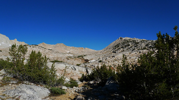 View towards Italy Pass and Mt Julius Caesar from camp