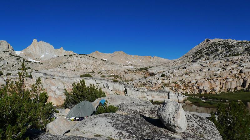 Our campsite in Granite Park