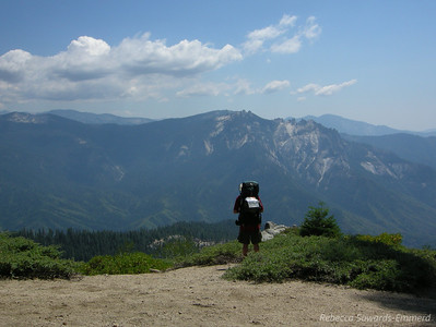 Greg takes in the view of Castle Peaks from Panther Gap