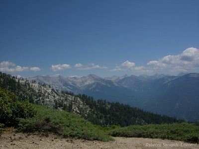 First view of the Great Western Divide - we'll be there tomorrow!