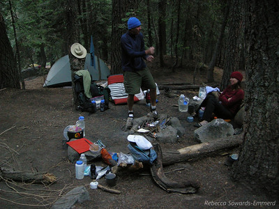 First night's camp at 9 mile creek.