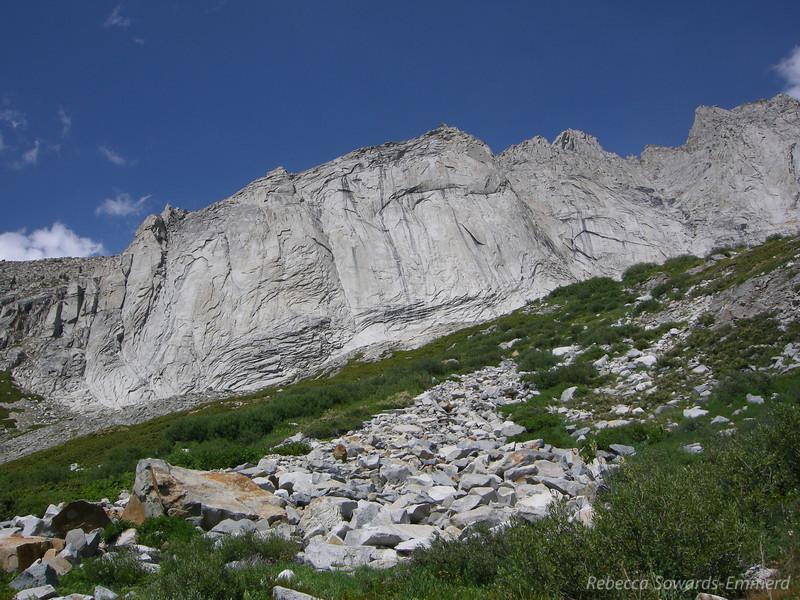 Granite walls between Valhalla and Mt Stewart