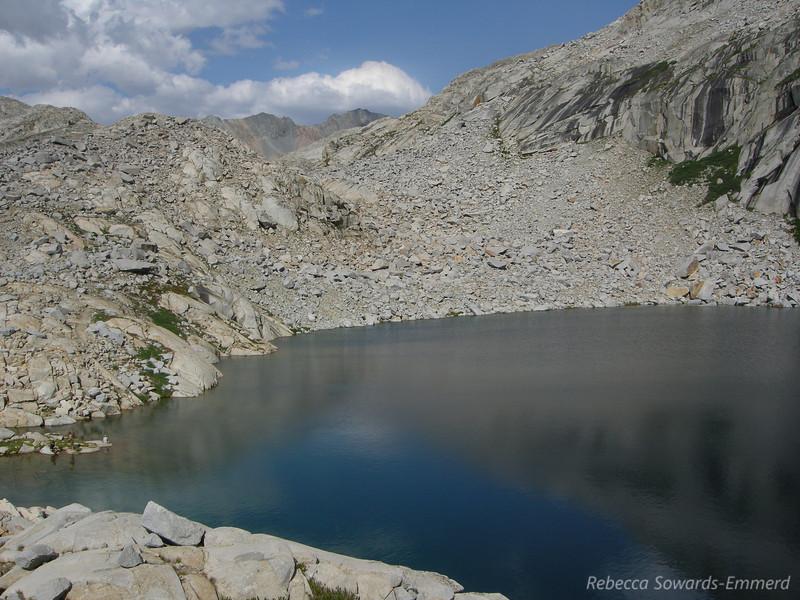 Precipice Lake, view towards Kaweah Gap.