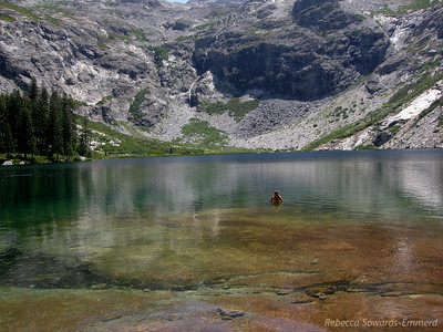 Next stop: Hamilton Lakes. It's not far from the waterfall to the lake, but we were all ready to get in the water and relax again. This is a great swimming lake that breaks up the 4000+ ft climb day.