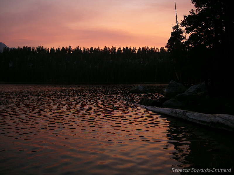 Sunset at Moraine Lake