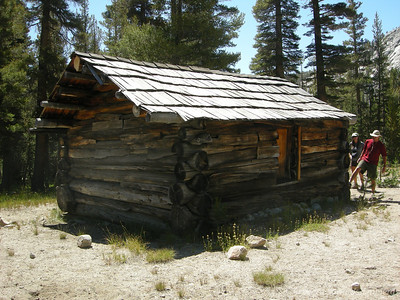 An unused cabin in the middle of nowhere.