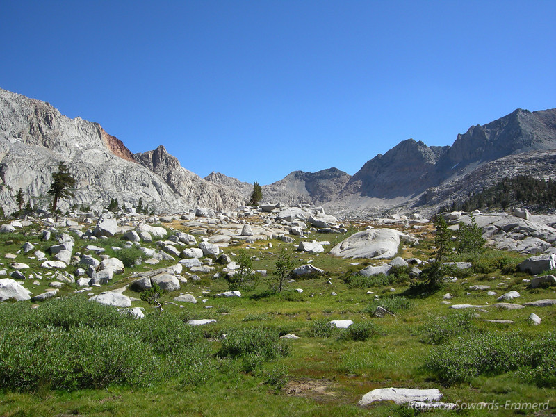Down into Big Arroyo. This is looking back towards 9 Lakes Basin