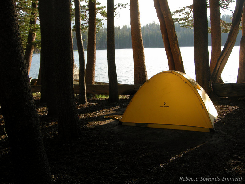 Paige and Greg's tent at Moraine Lake