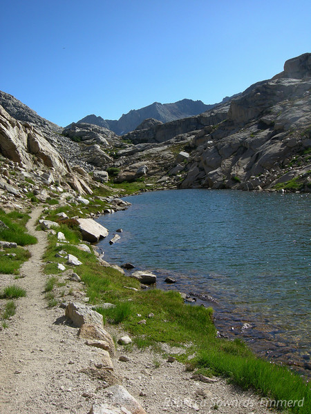 You pass some nice small lakes and meadows on the way to Kaweah Gap.