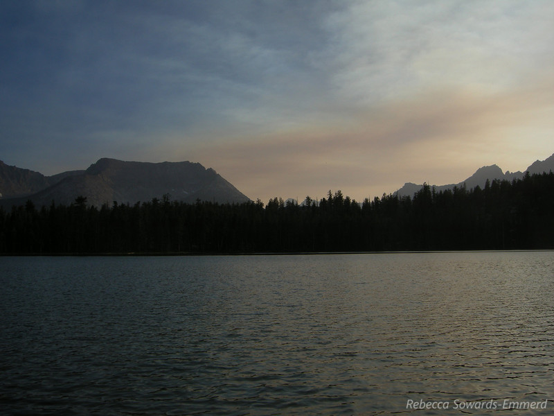 Moraine Lake sunset. Noticed some smoke in the air tonight but it wasn't thick.