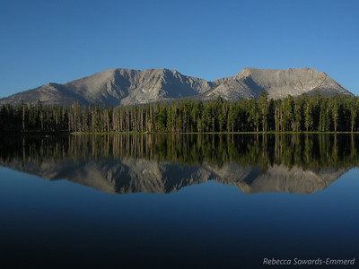 Morning reflection at Moraine Lake
