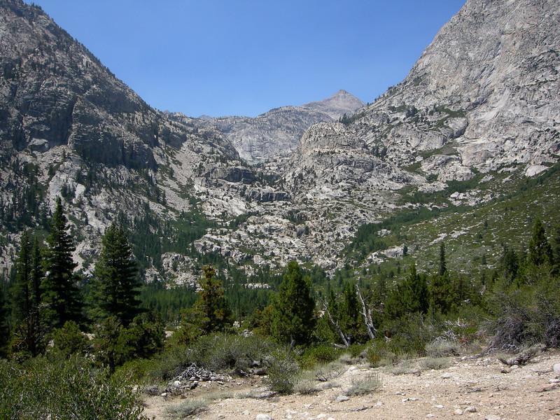 View towards Colby Pass from above Junction Meadow