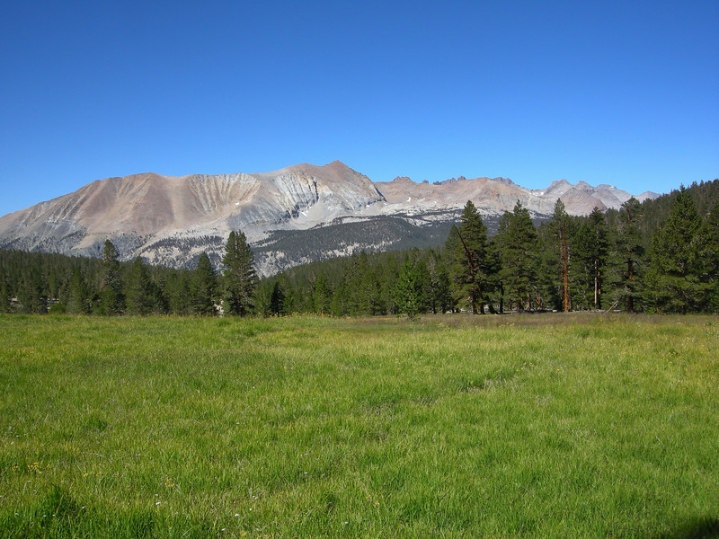 Red Spur and the kaweahs from Sandy Meadow