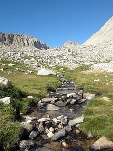 Creek draining into Guitar and ridge between Mt Young and Mt Hale