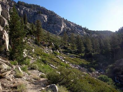 Climbing towards Wallace Creek
