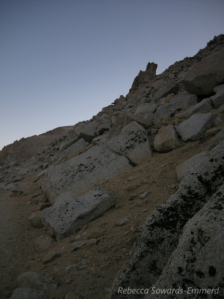 Rocky terrain on the backside (west) of Whitney