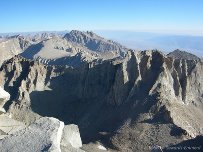 Looking North from Whitney (Russell is the prominent mountain in the front)