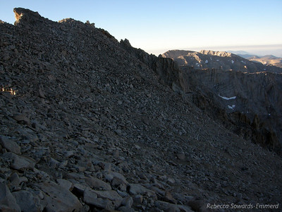 We dropped our packs at the junction and headed up the trail to Whitney summit. It's quite a feat of trail engineering.