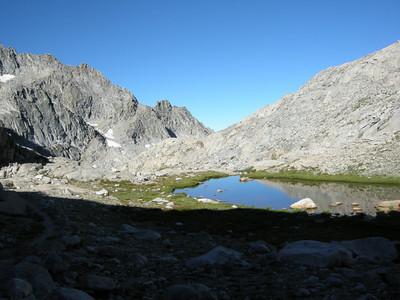 Small unnamed lake below the Gap.