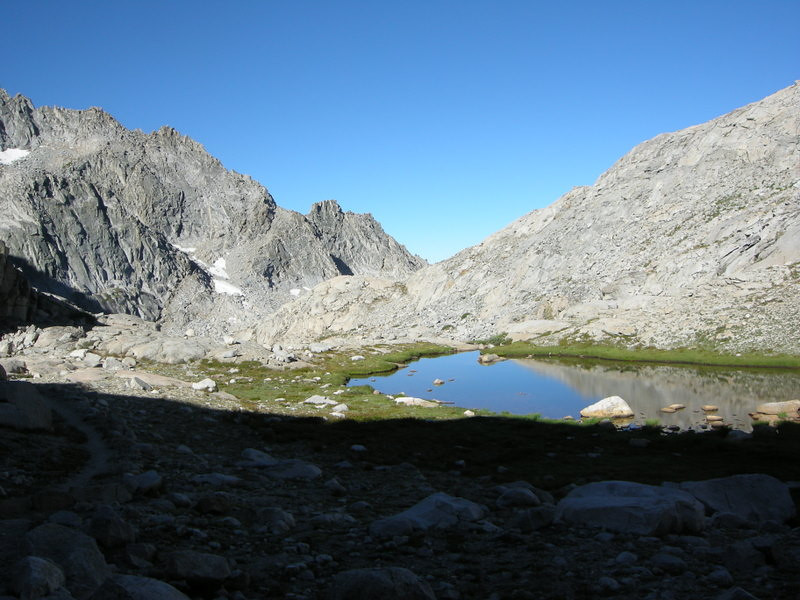 Small unnamed lake below the Gap.