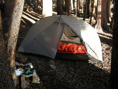 Camp at Moraine Lake