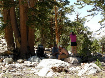 Shade break after today's climb out of Big Arroyo.