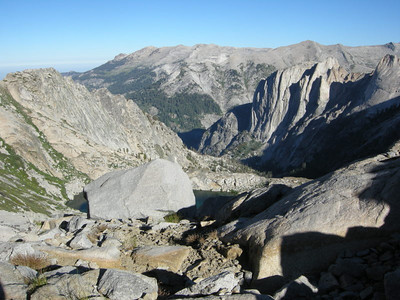 We leave Precipice and climb the short ascent to Kaweah Gap.