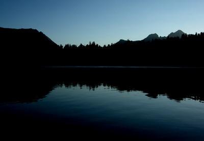 Last light at Moraine Lake