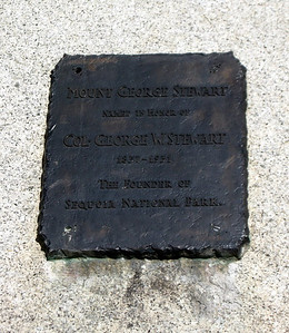 A plaque at the Gap in honor of Col. Stewart, founder of the National Park.