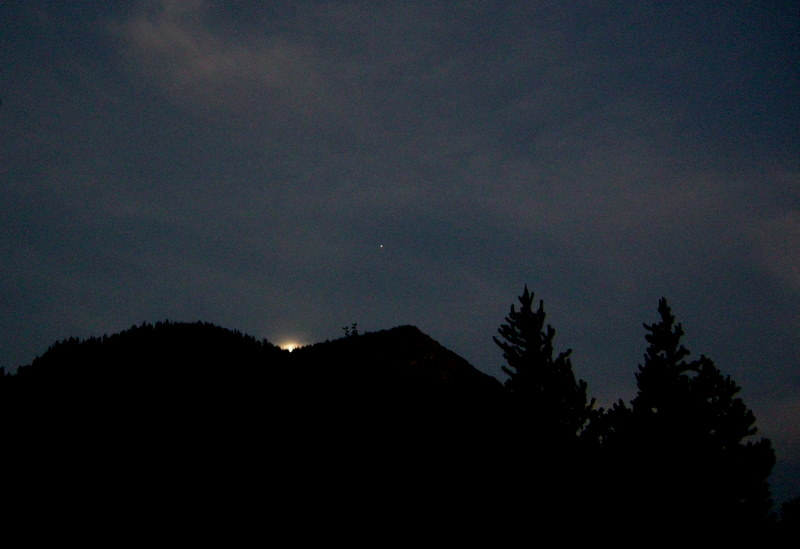 Moonrise from camp