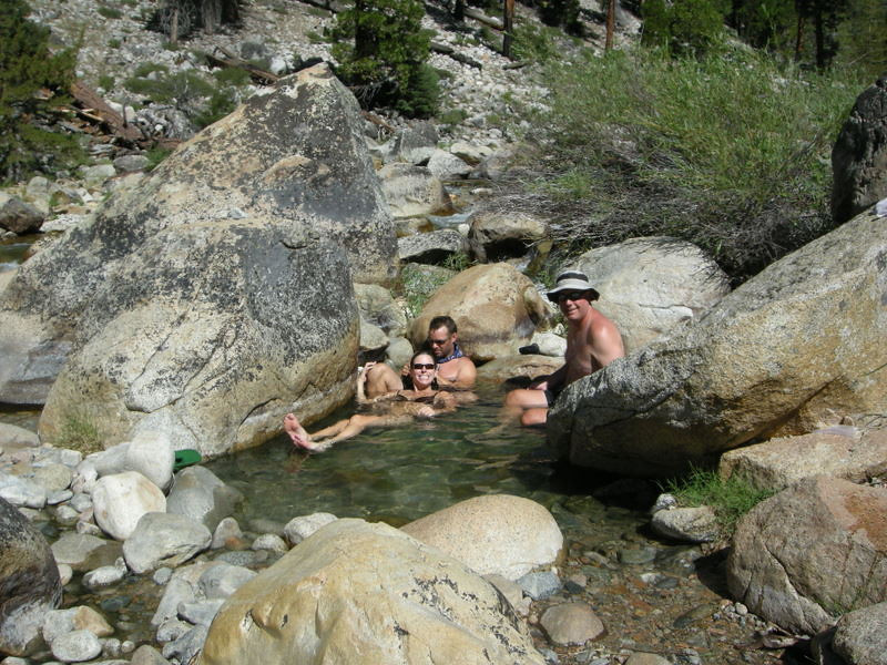 Hangin out at the Kern Hot spring<br /> <br /> This is a ~95 degree pool between the main spring and the river