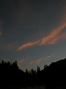 Sunset from kern canyon camp 2