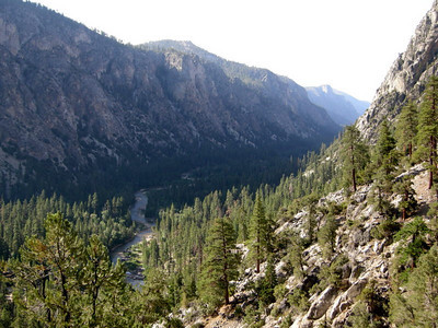 Looking back down the Kern River from above.