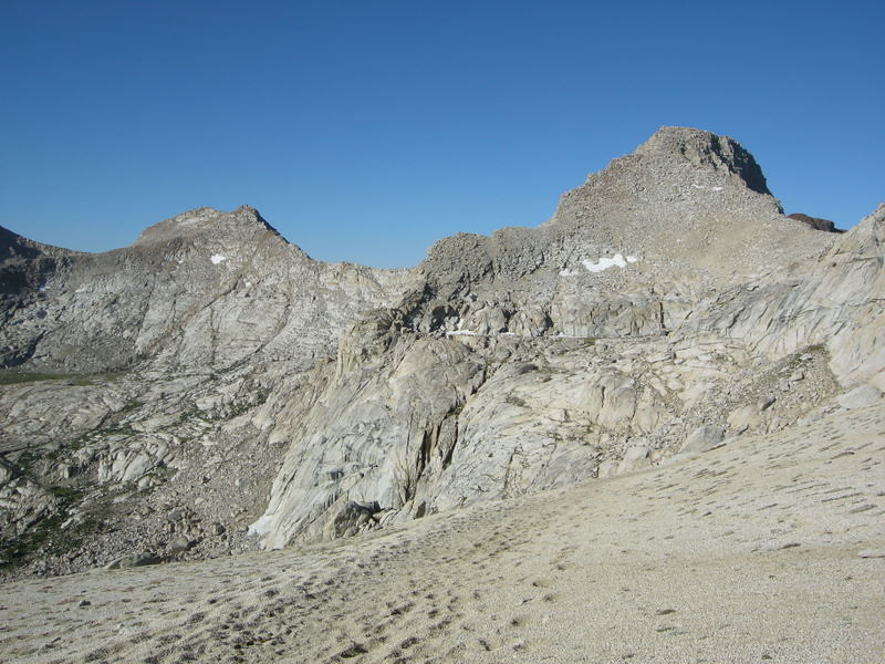 Florence Peak from approach to Franklin Pass
