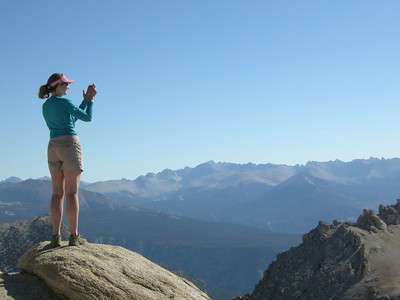 Pavla takes in the view from Franklin Pass