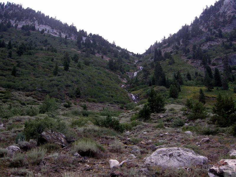 Creek tumbling down from Franklin Lake Dam