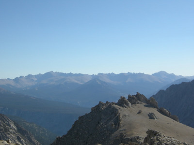View towards some 'fourteeners' - whitney, langley, and others