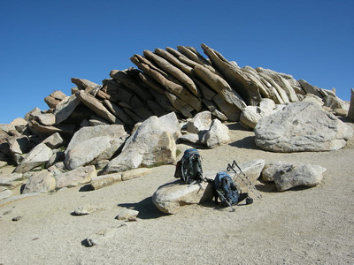 Packs at Franklin Pass