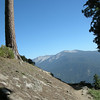 The trail contours along the ridge below Alta Peak through here
