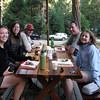 We met in Mineral King to camp and drop cars at the ending trailhead<br /> <br /> From L to R: me, Paige, David, Ray, Pavla