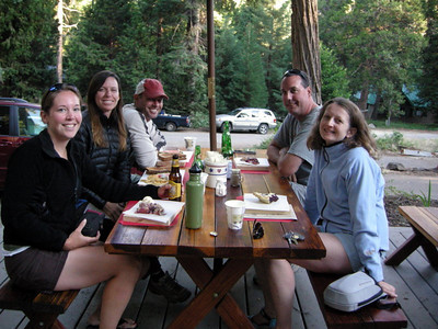 We met in Mineral King to camp and drop cars at the ending trailhead  From L to R: me, Paige, David, Ray, Pavla