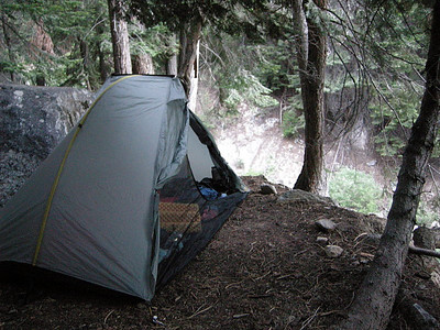My Tarptent Rainbow at its 9-mile creek campsite