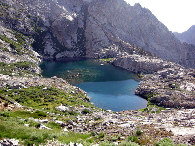 The 'false' Precipice - a smaller lake about 400 feet below the 'real' Precipice.<br /> <br /> Still beautiful, though!