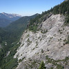 A lot of the High Sierra trail is cut out of the rock