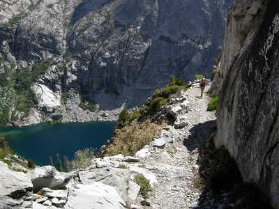Pavla motors up the High Sierra Trail