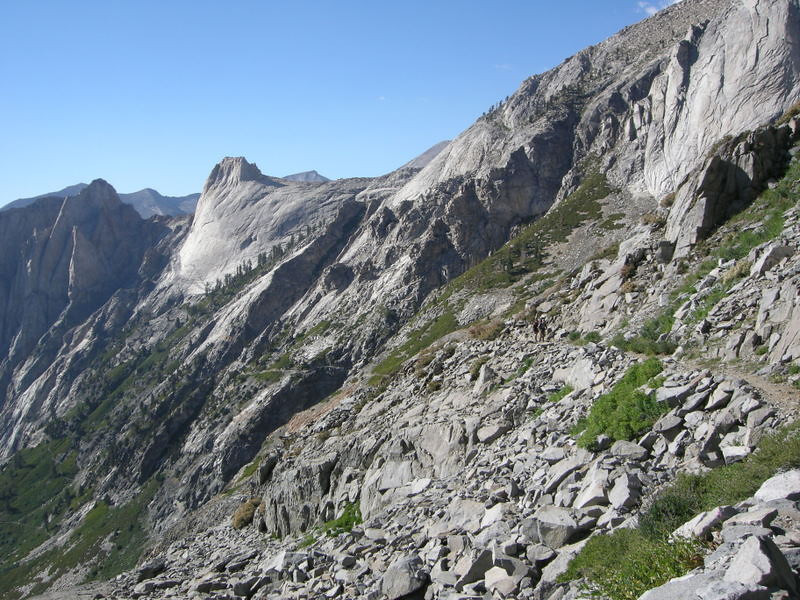 The trail - and Valhalla, now below our elevation.