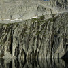The Precipice<br /> <br /> Water seepage from the glacier above creates the streaks in the rock.