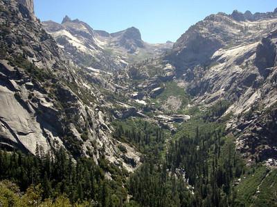 Hamilton creek, and the canyon we're climbing up
