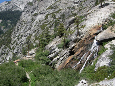 Hamilton creek and hikers below