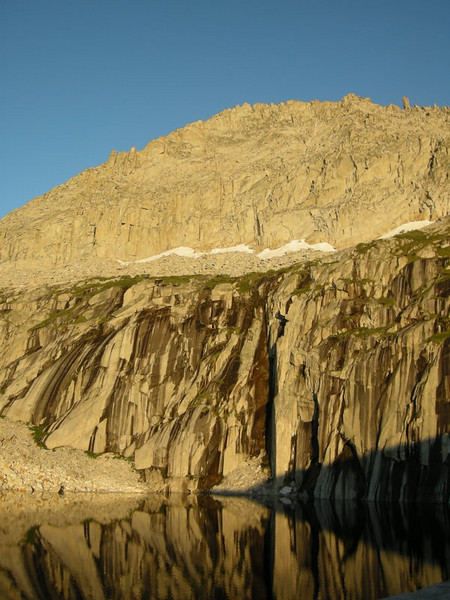 Precipice Lake before sunset.
